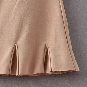 Chic High Waist Solid Color Boot Cut Ankle Pants For Women -