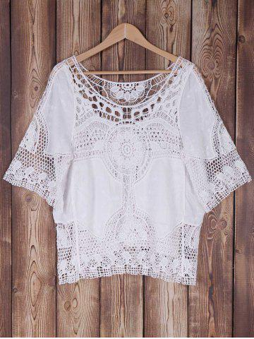 Outfits Bat Sleeve Openwork Cover Up