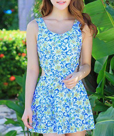 Hot Floral Print Hollow Out Swimwear