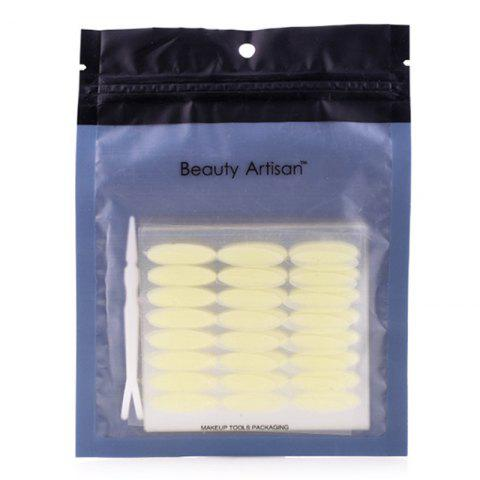 Chic Stylish One Bag Wide Breathable Waterproof Invisible Double Eyelid Stickers with Tweezer