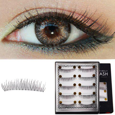 5 Pairs Lengthening Soft Handmade False Eyelashes