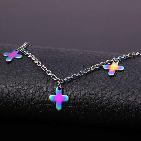 Cheap Sweet Colored Cross Anklet For Women - COLORMIX  Mobile