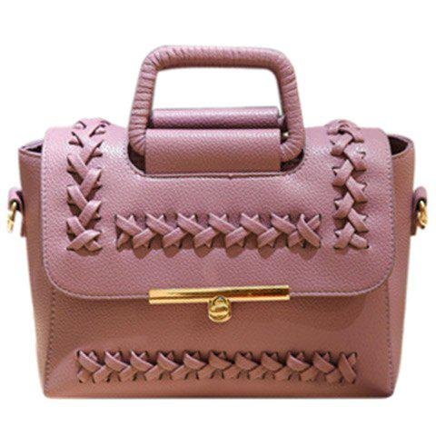 Best Vintage Weaving and Hasp Design Tote Bag For Women