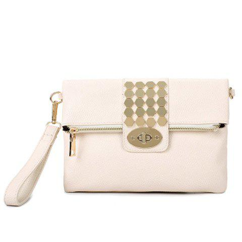 Online Trendy Metal and Hasp Design Clutch Bag For Women