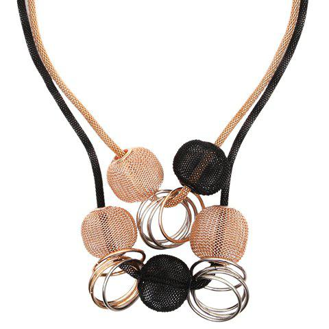 Discount Multilayer Beads Circle Decorated Alloy Necklace