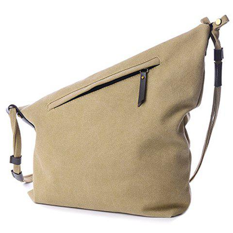 Outfits Leisure Canvas and Button Design Shoulder Bag For Women -   Mobile
