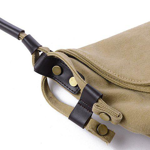Sale Leisure Canvas and Button Design Shoulder Bag For Women -   Mobile