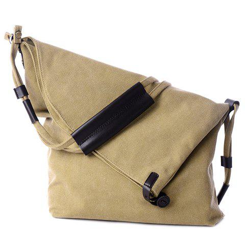 Shops Leisure Canvas and Button Design Shoulder Bag For Women -   Mobile