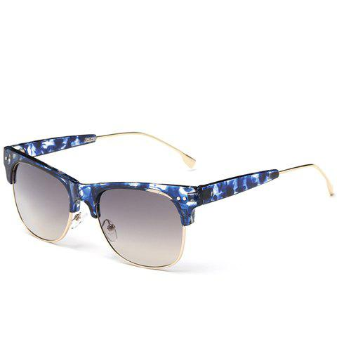 Buy Trendy Metal Frame Splicing Design Flecky Sunglasses