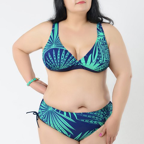 Sale Brief V-Neck Printed Bikini Set For Women