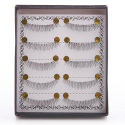 Stylish 5 Pairs Natural Soft Handmade False Eyelashes