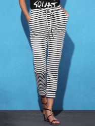 Striped Sweat Jogger Pants -