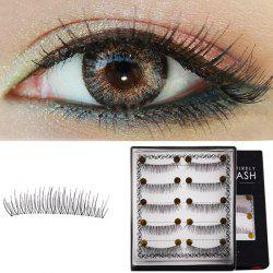 Stylish 5 Pairs Lengthening Soft Handmade False Eyelashes -
