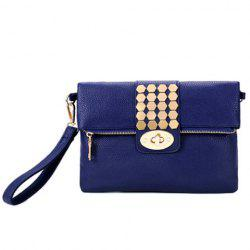 Trendy Metal and Hasp Design Clutch Bag For Women -