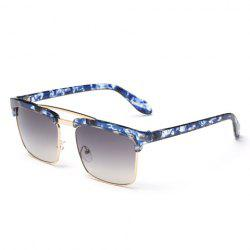 Trendy Flecky Brow Quadrate Frame Sunglasses