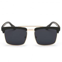 Trendy Black Brow Quadrate Frame Sunglasses - BLACK