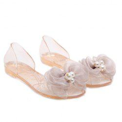 Sweet Bow and Transparent Design Sandals For Women -