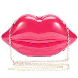 Trendy Lip Shape and Solid Color Design Evening Bag For Women -