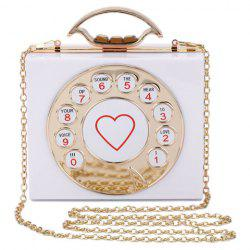 Chic Metal and Telephone Shape Design Evening Bag For Women -