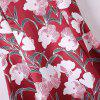 Spaghetti Strap A Line Floral Summer Dress - RED S