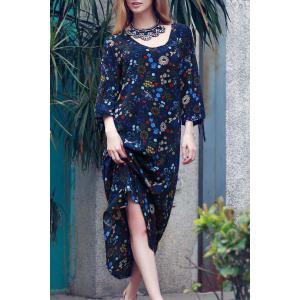 Floral Split Sleeve Boho Maxi Dress