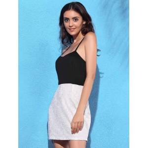 Two Tone Lace Cami Dress -
