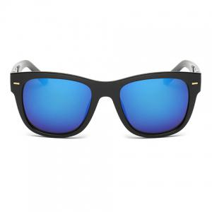Stylish Short Stripe Shape Alloy Inlay Black Sunglasses For Men -