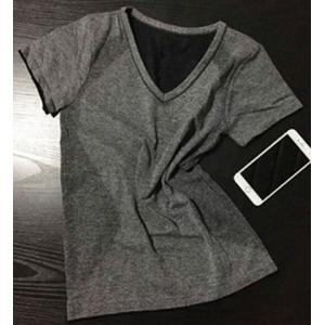 Brief Short Sleeves Solid Color Sport T-Shirt For Women -