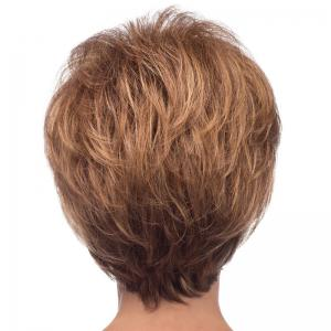 Bouffant Natural Wave Side Bang Spiffy Short Capless Real Natural Hair Wig For Women -