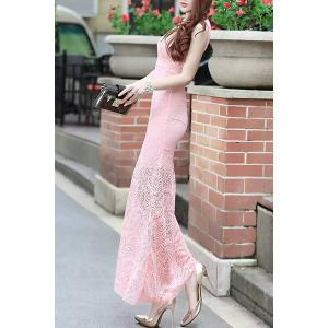 Fitted Long Lace Mermaid Maxi Formal Wedding Dress -