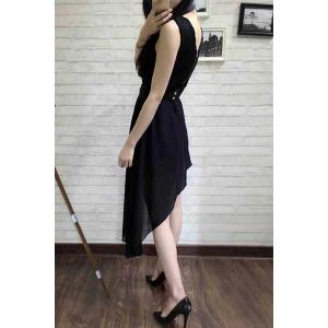 Trendy Scoop Neck Sleeveless High Low Dress For Women -