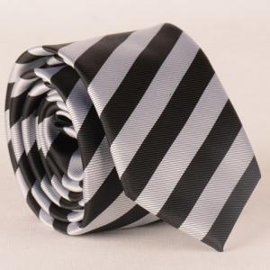 Stylish Black and White Wide Twill Pattern 6CM Width Tie For Men -