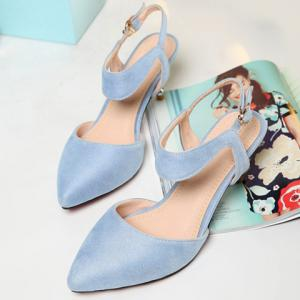 Graceful Suede and Solid Colour Design Sandals For Women -