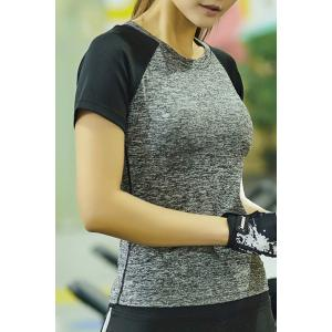Marled Baseball Sport Workout Gym Running T-Shirt -