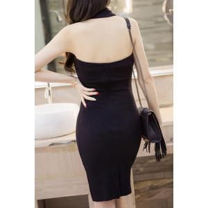 Sleeveless Open Back Bodycon Dress -