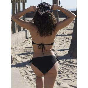 Sexy Halter Solid Color Hollow Out Bikini Set For Women -