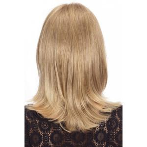 Charming Straight Slightly Curled Capless Fashion Long Side Bang Human Hair Wig For Women -