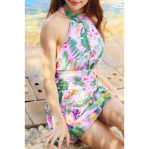 Sweet Backless Printed One-Piece Swimwear For Women -