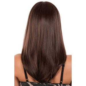 Sweet Full Bang Capless Fashion Straight Long Real Human Hair Wig For Women -