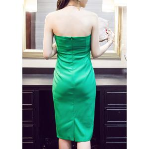 Stylish Halter Green Midi Dress For Women -