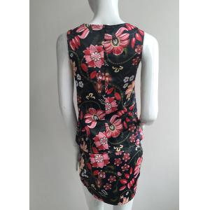 Mini Floral Print Sheath Dress -