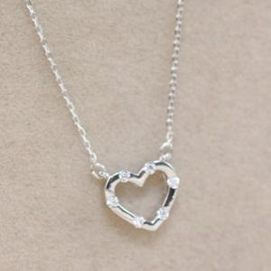 Gorgeous Rhinestone Heart Necklace For Women -
