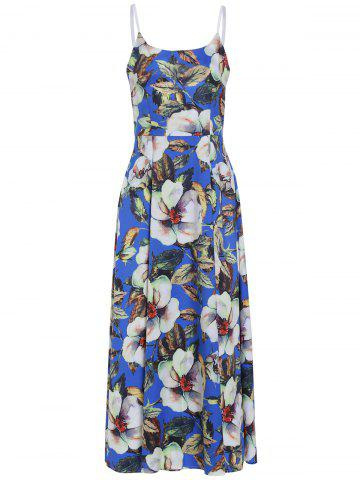 Sale Sweet Spaghetti Strap Floral Printed Maxi Dress For Women