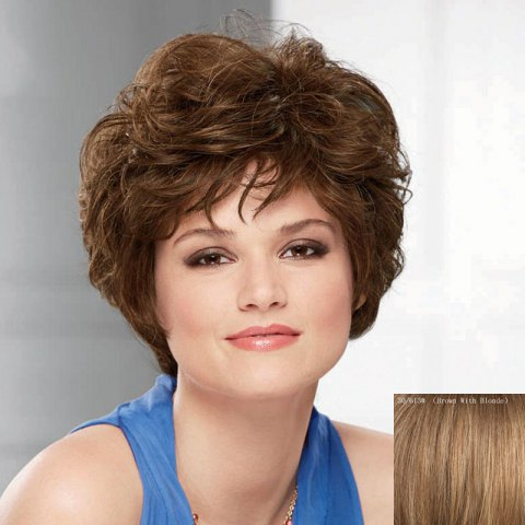 Unique Fluffy Short Wave Capless Noble Side Bang Human Hair Wig