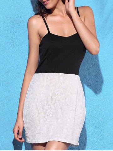 Fancy Two Tone Lace Cami Dress