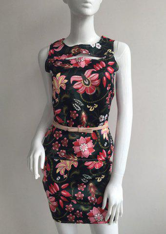 Latest Mini Floral Print Sheath Dress