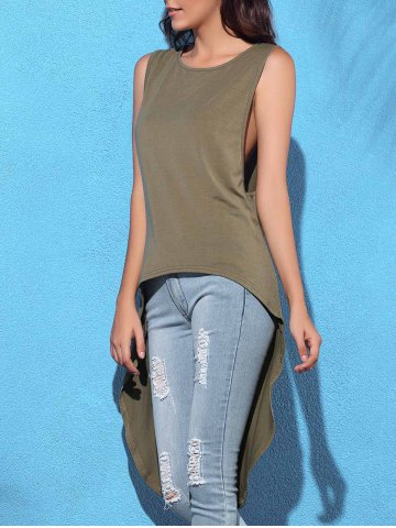 Hot High Low Drop Armhole Long Tank Top