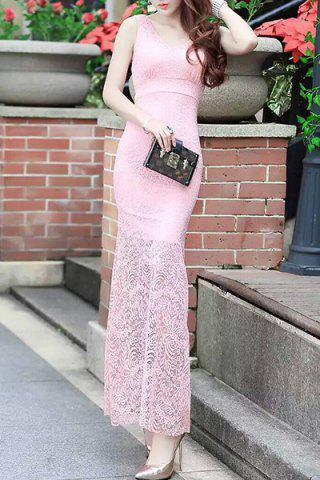 Trendy Fitted Lace Mermaid Maxi Formal Wedding Dress