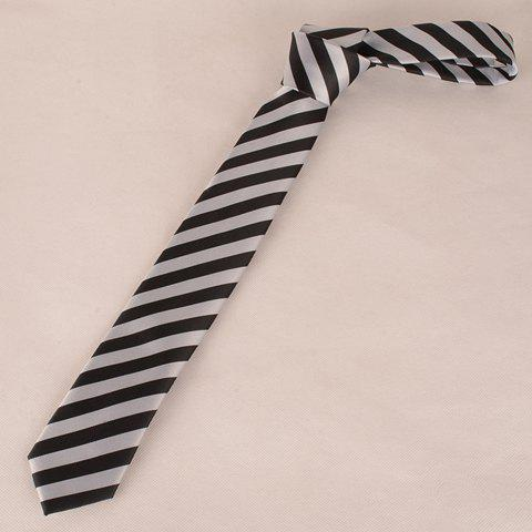 Cheap Stylish Black and White Wide Twill Pattern 6CM Width Tie For Men
