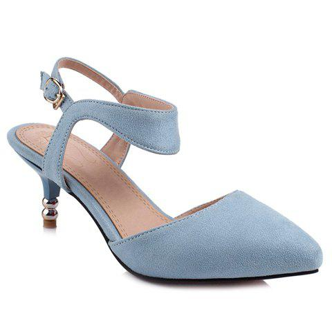 Trendy Graceful Suede and Solid Colour Design Sandals For Women
